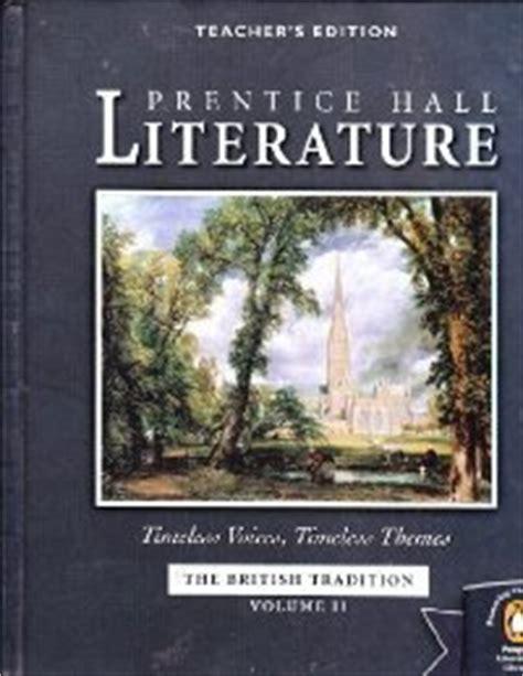 themes in world literature textbook prentice hall literature the british tradition teachers