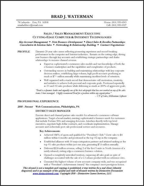great resume format for real estate sales manager senior sales