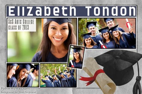 Graduation Photo Collage Template Postermywall Graduation Photo Collage Template
