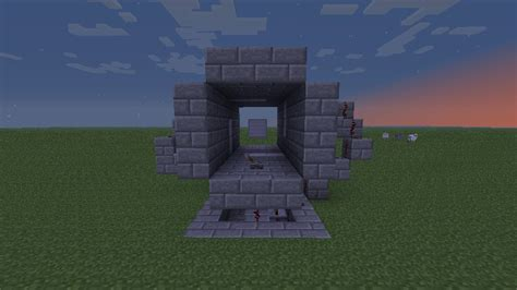 Piston Door Minecraft by Minecraft 3x3 Piston Door Minecraft Project