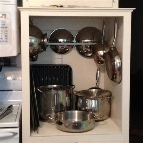 organizing pots and pans in kitchen cabinets pinterest the world s catalog of ideas