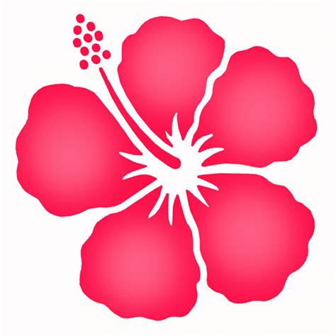 Hawaiian Flower Stencil Clipart Best Hawaiian Flower Template
