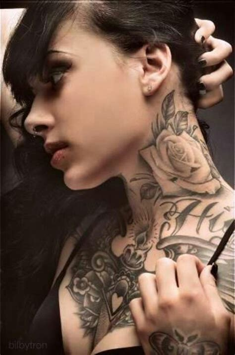 tattoo neck rose 50 awesome neck tattoos athenna design web design