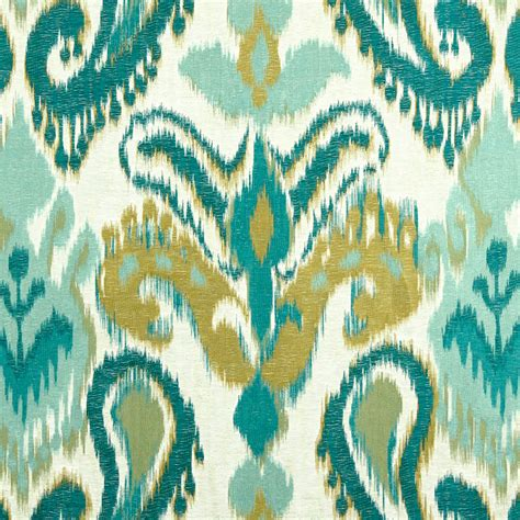 upholstery fabric ikat turquoise woven ikat upholstery fabric large scale ikat for