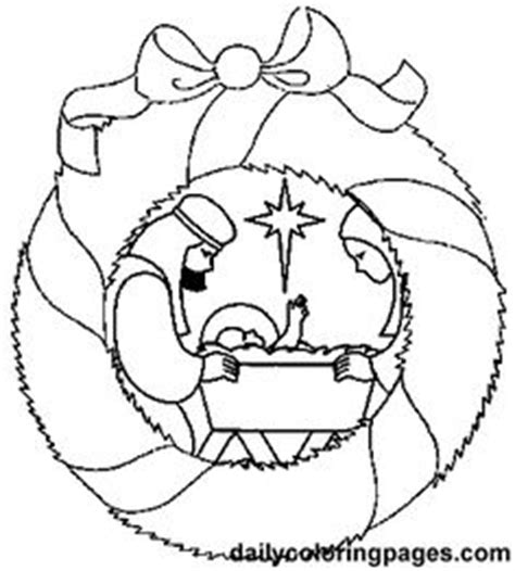 Ornament Wreath Coloring Page Free Christmas Recipes Coloring Pages For Kids Santa Letters Nativity Letter Template