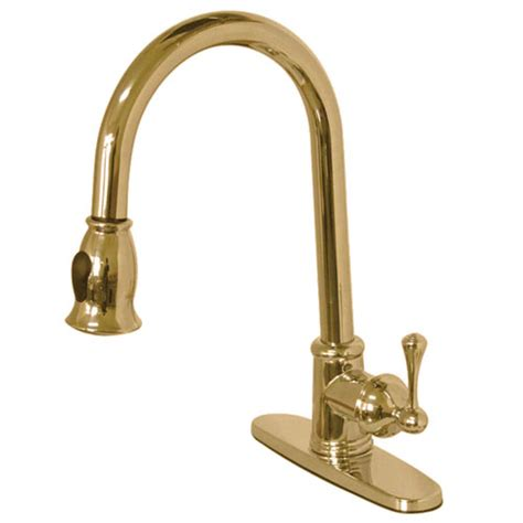 kingston polished brass single pull kitchen