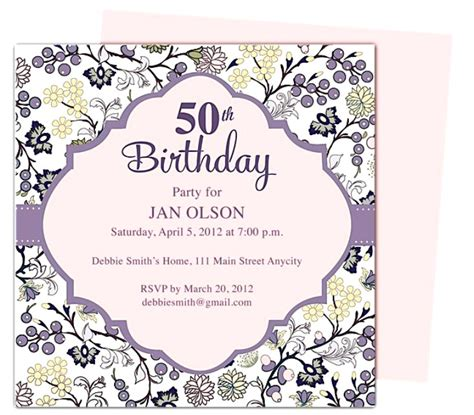template for 50th birthday invitations free printable 50th birthday invitation template gangcraft net