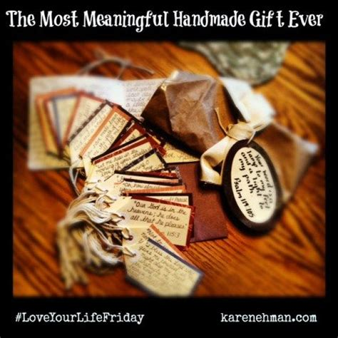 Meaningful Handmade Gifts - give the most meaningful handmade gift god s word in
