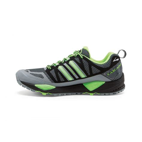 cascadia shoes running cascadia 10 trail running shoes grey and green mens