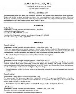 How To Write A Resume For A Doctor by 15 Doctor Resume Templates Free Sles Exles