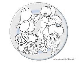 my plate coloring page resources healthy