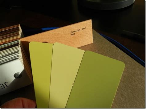 green paint colors suggested with golden oak toned woods mid range color greens especially the