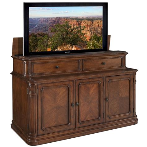 70 inch tv cabinet tv lift cabinet pacifica lift for 40 70 inch screens