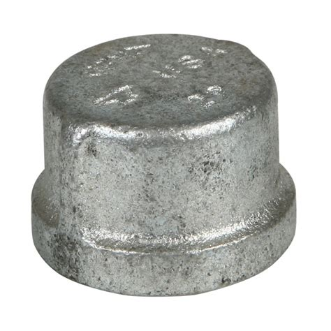 1 Galvanized Cap - 3 4 quot galvanized cap qc supply