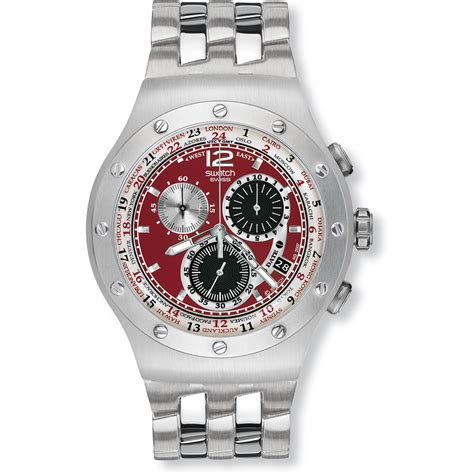 red swatch swatch yos427g watch combination red