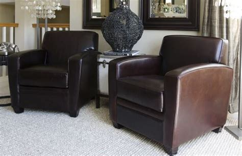 Dex Furniture by Elements Home Furnishings 2 Top Grain Leather Standard Chairs Cappuccino Dex