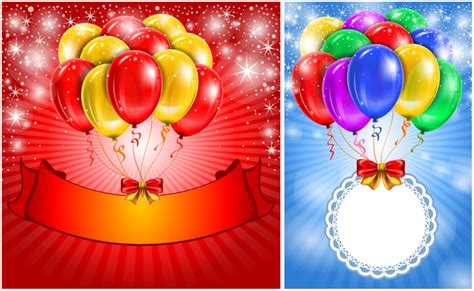 birthday card balloon template 7 balloons birthday card vector images balloons birthday