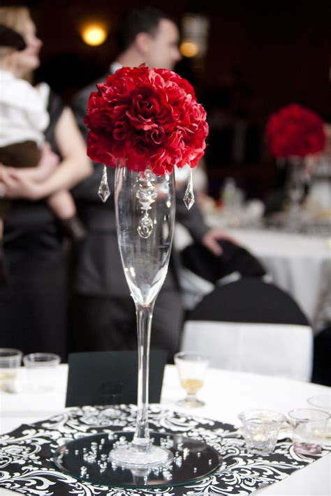 one centerpieces at reception project wedding