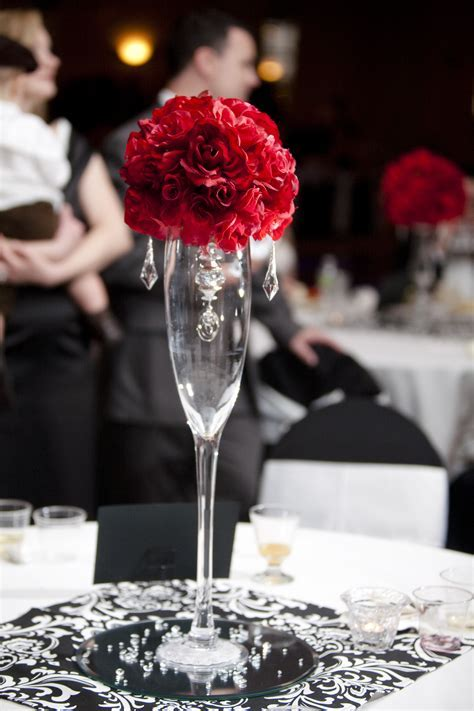 Reception, Flowers & Decor, red, Centerpieces, Centerpiece