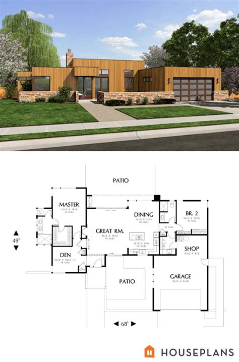 Small Modern Contemporary House Plans by 25 Best Ideas About Small Modern House Plans On