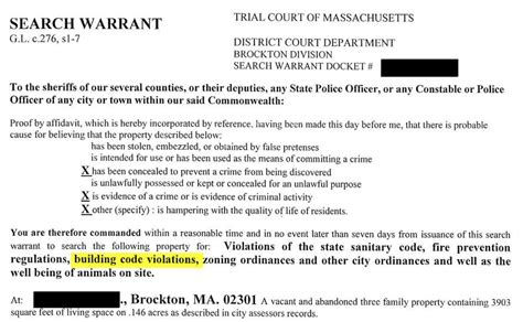 Administrative Search Warrant Real Estate Can Building Inspection Obtain Warrant To Inspect Suspected Non Permited