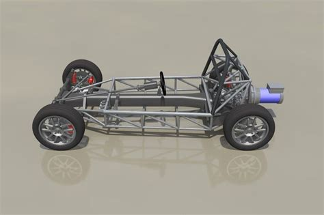 Kaos 3d Beetle Classic frame for vw beetle classic chassis step iges 3d cad