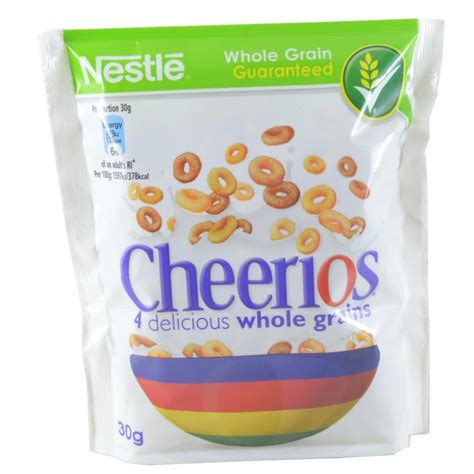 whole grains in cheerios nestle cheerios whole grain pouch 30g approved food