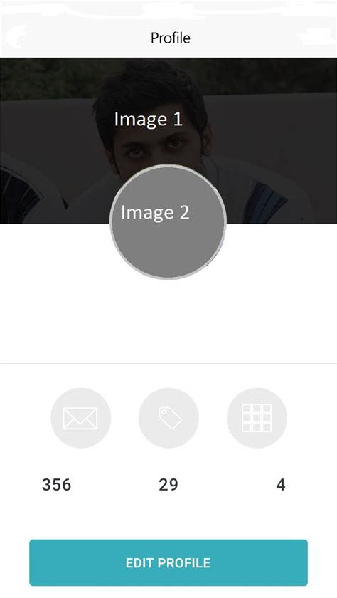 android layout overlapping views how to half overlap imageview on another imageview in