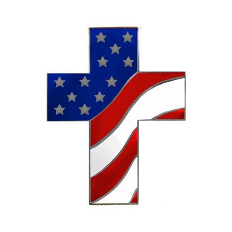 American Cross american flag cross lapel pin usamm