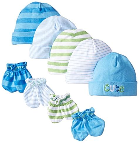 baby mittens boy gerber baby boys newborn 5 pack caps 0 6 months and 4