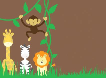 animal themed events baby jungle borders clipart clipart suggest