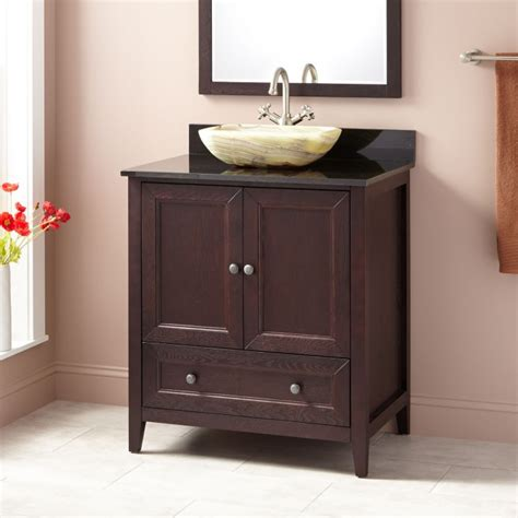 dark wood vanity bathroom 30 quot kipley vessel sink vanity dark cherry wood
