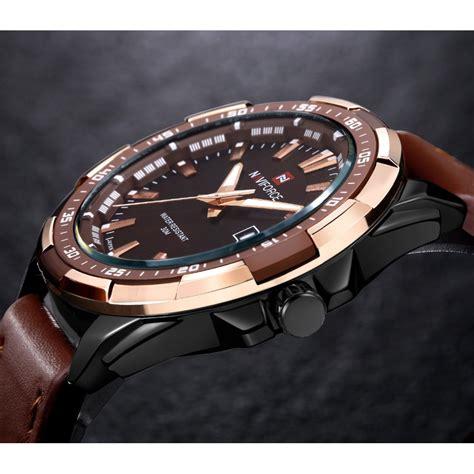 Jam Tangan Pria Led Iron Aksesories Pria navi jam tangan analog pria 9056 brown jakartanotebook