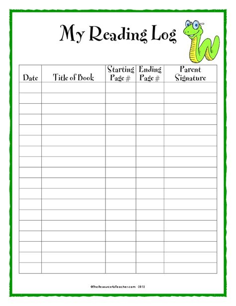 reading log template reading log pdf search results calendar 2015