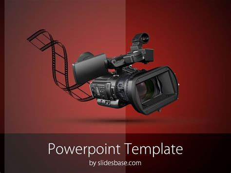 camera powerpoint templates video camera powerpoint template slidesbase