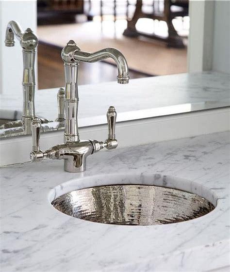 Metal Sink Hammered Metal Bar Sink With Vintage Faucet