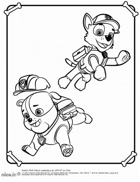 coloring pictures to print paw patrol coloring pages birthday printable