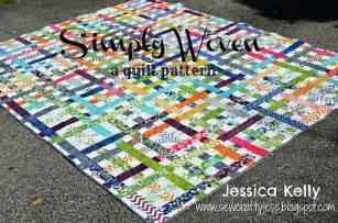 Sewcraftyjess moda bake shop simply woven quilt tutorial
