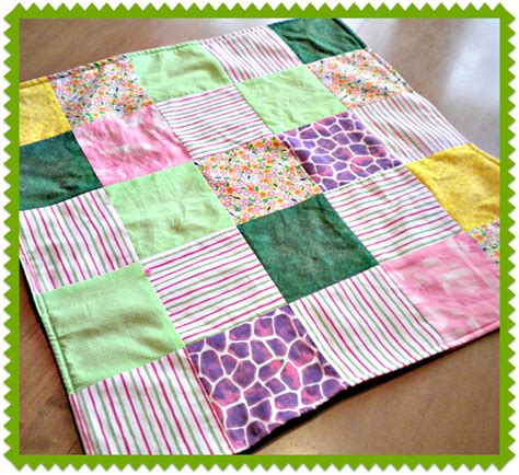 Patchwork Fleece Blanket - patchwork fleece doll blanket favecrafts