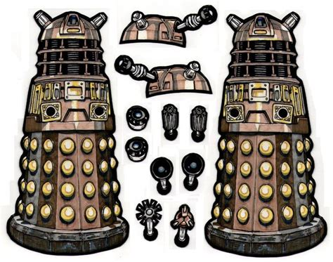 Papercraft Dalek - 171 best images about doctor who papercraft printables
