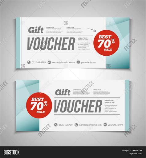 templates for vouchers design abstract gift voucher coupon vector photo bigstock
