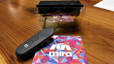 hands on the mira prism wants to be the google daydream of ar mira s prism headset for iphone is a 99 hololens rival