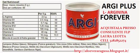alimenti contengono arginina argi forever argi bustine argi polvere arginina