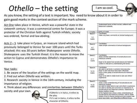 Othello Worksheet Answers