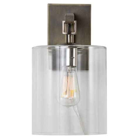 Cylinder Sconce niu industrial modern bronze glass cylinder wall sconce
