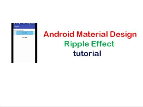 tutorial material design android android material design ripple effect tutorial shoutcafe