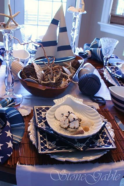 Nautical Table Decor by Nautical Wedding D 233 Cor Ideas Decozilla