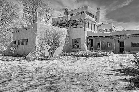 Mabel Dodge Luhan House by Mabel Dodge Luhan House In B W Photograph By Charles Muhle