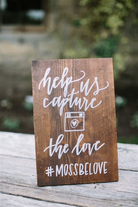 Wedding Hashtag Sign by 50 Beautiful Rustic Wedding Ideas