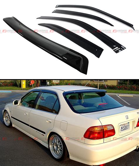 Rear Visor Civic Ferio 96 00 96 00 6th honda civic sedan em ej smoke rear window